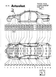 контрольные размеры кузова toyota vista ardeo